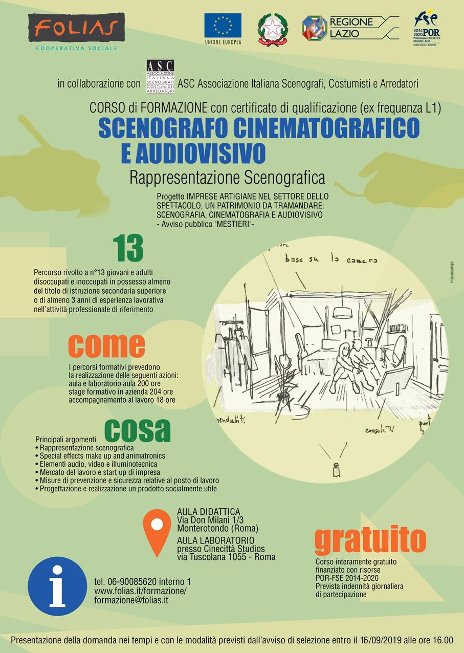 Asc associazione italiana scenografi costumisti e for Corsi per arredatori